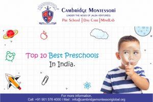 Top 10 Preschools in India, Top 10 Preschools in India