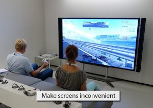 Make-screens-inconvenient