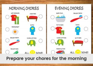 Prepare-your-chores-for-the-morning.